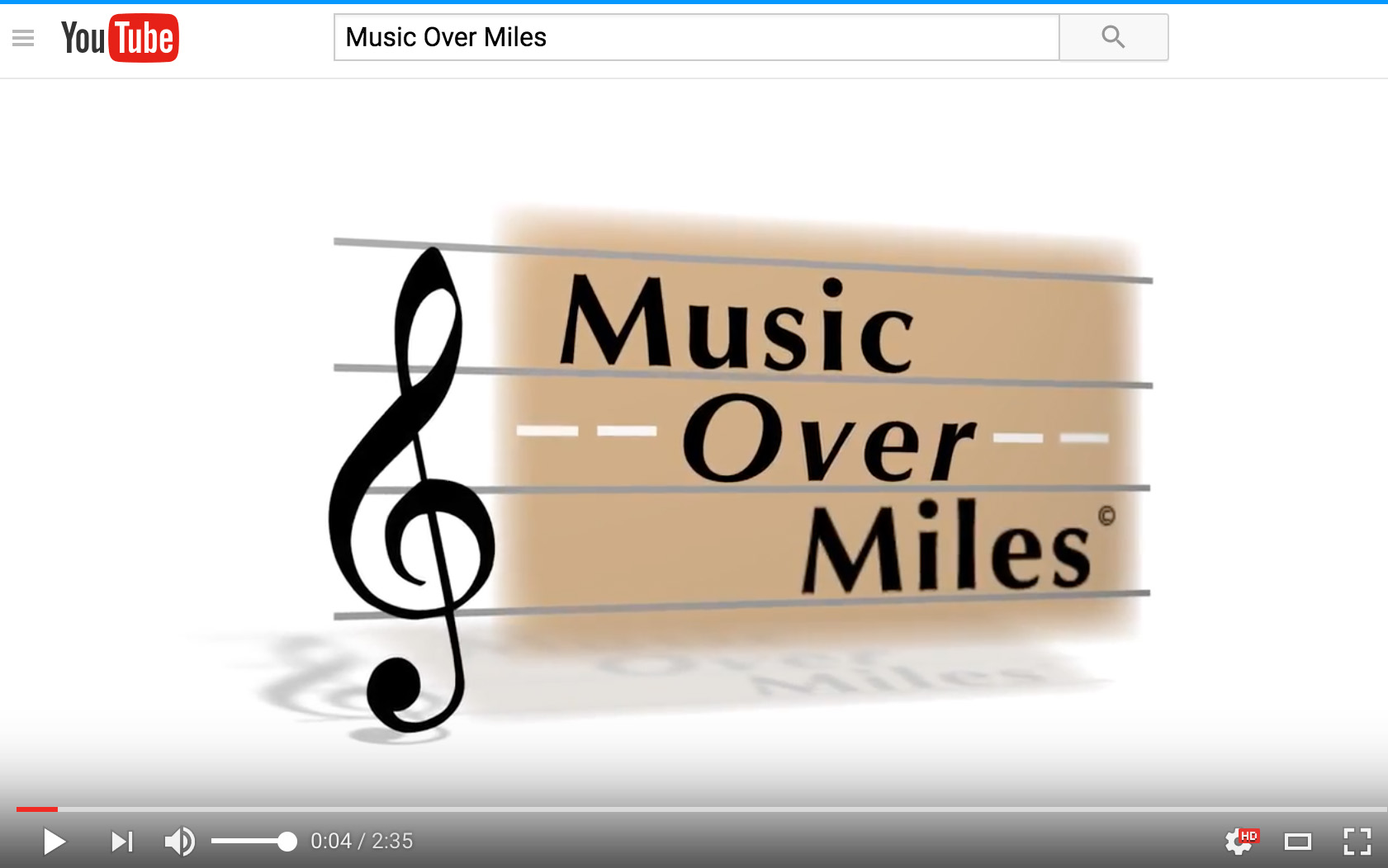 Music Over Miles Video